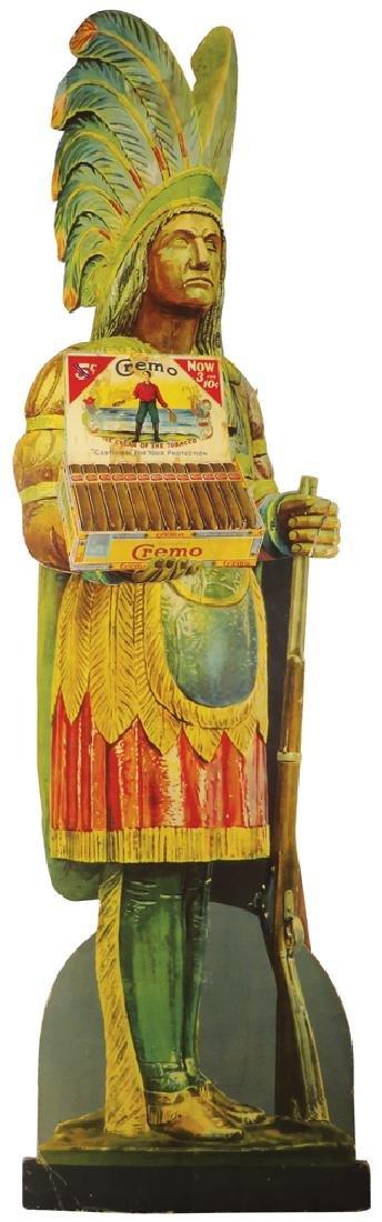Cremo Cigars Die Cut Cardboard Store Display