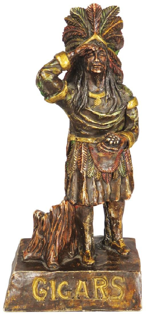 Chalkware Cigar Store Counter Figure