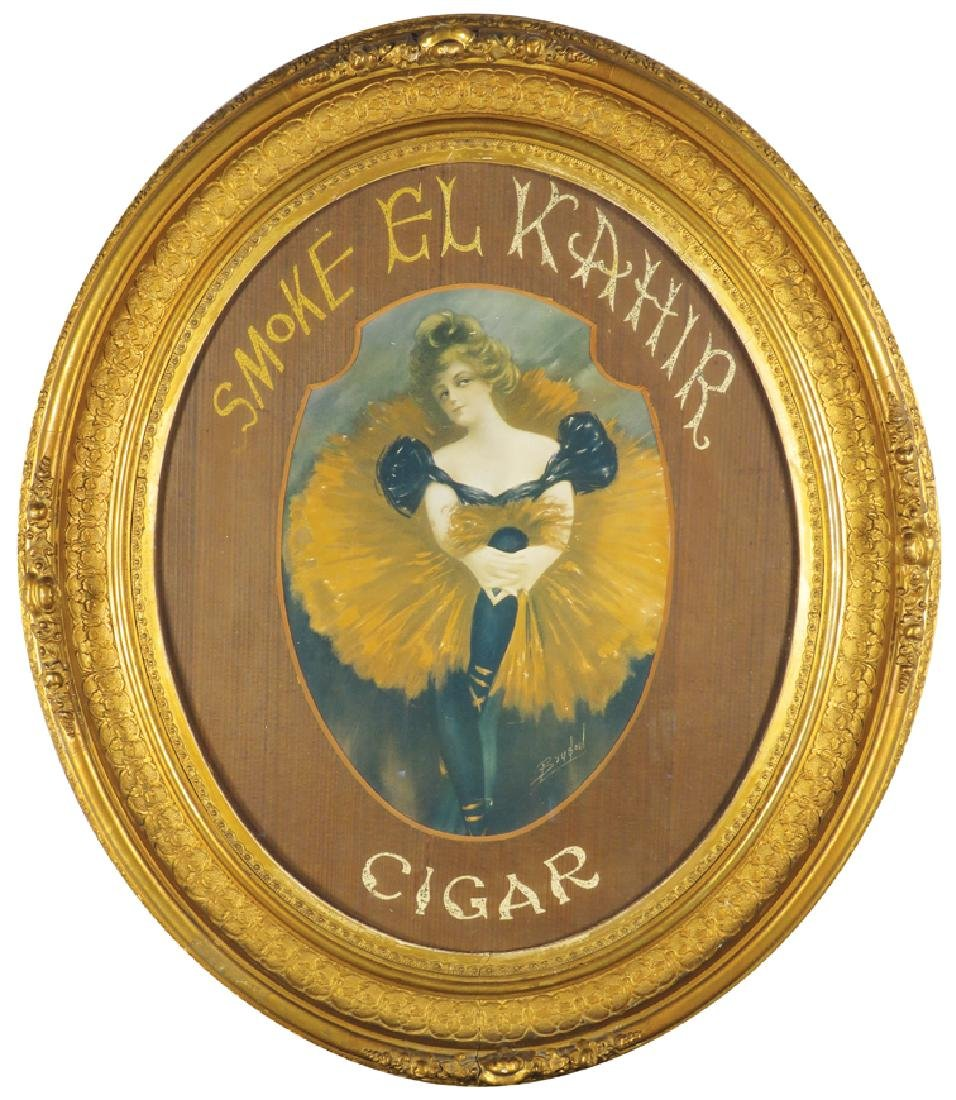 Smoke El Kahir Cigar Advertising Sign