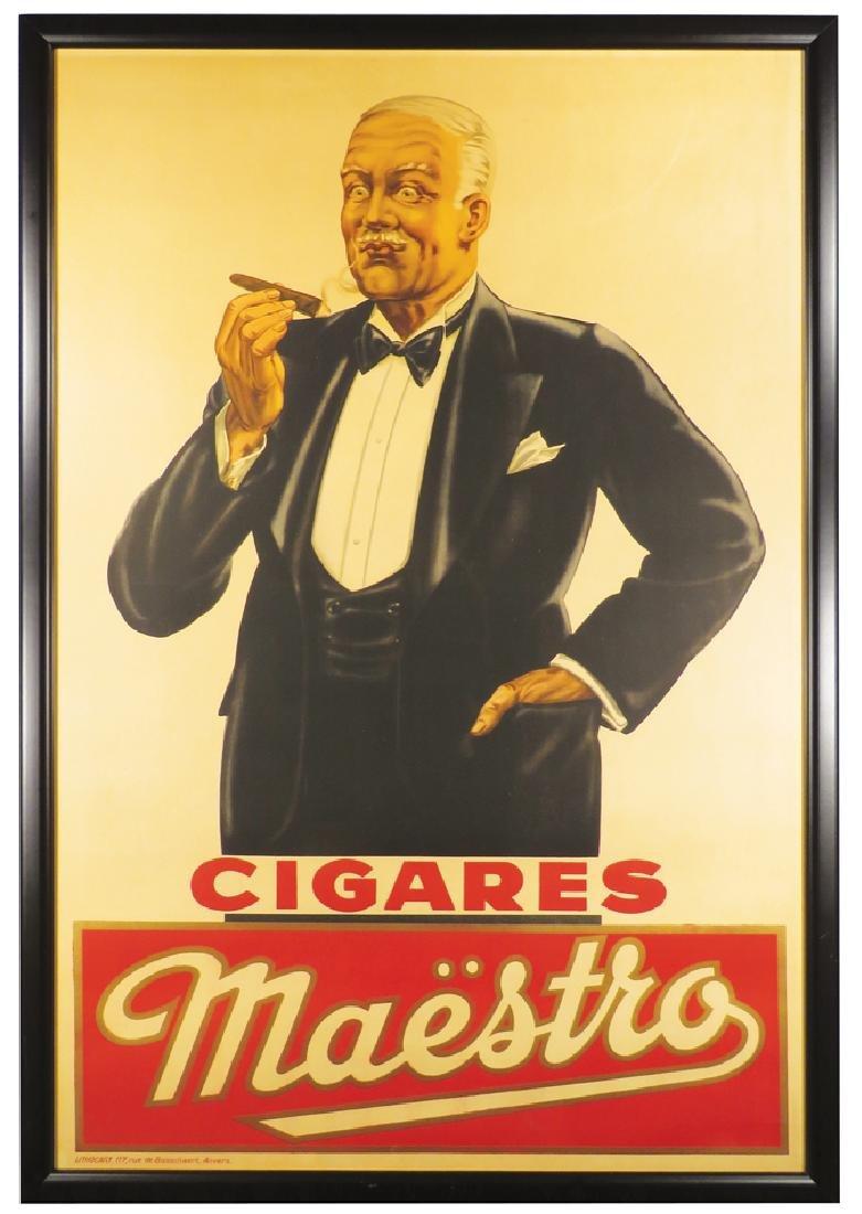 Maestro Cigars Cardboard Sign