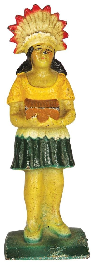 Cigar Store Indian Maiden Cast Iron Figure