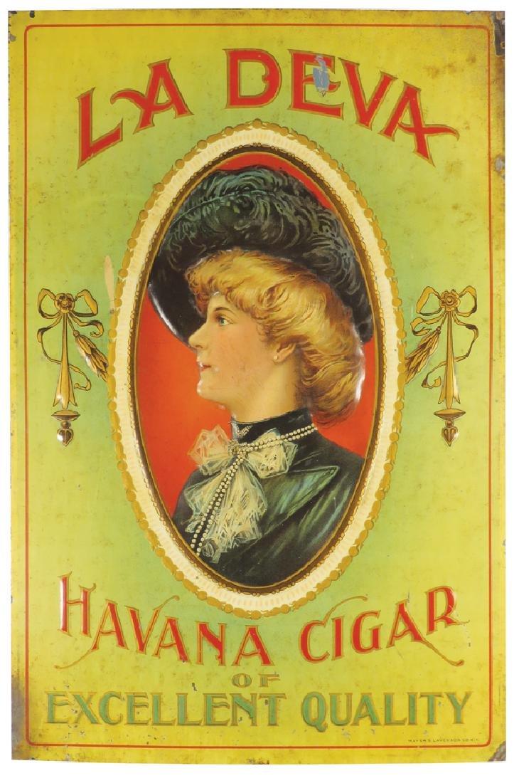 La Deva Havana Cigar Embossed Tin Sign