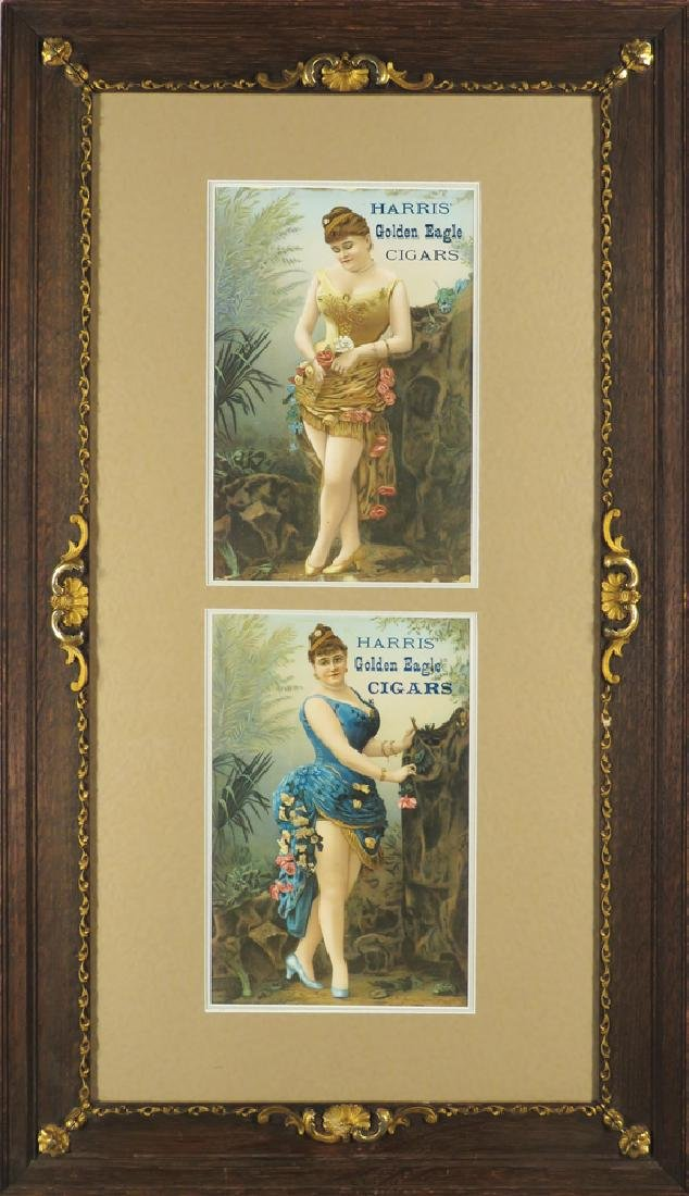 Harris Gold Eagle Cigars Advertising Signs