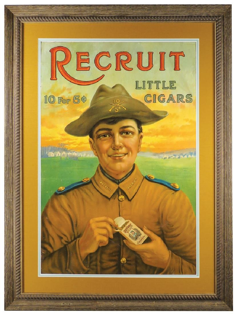 Recruit Little Cigars Cardboard Sign