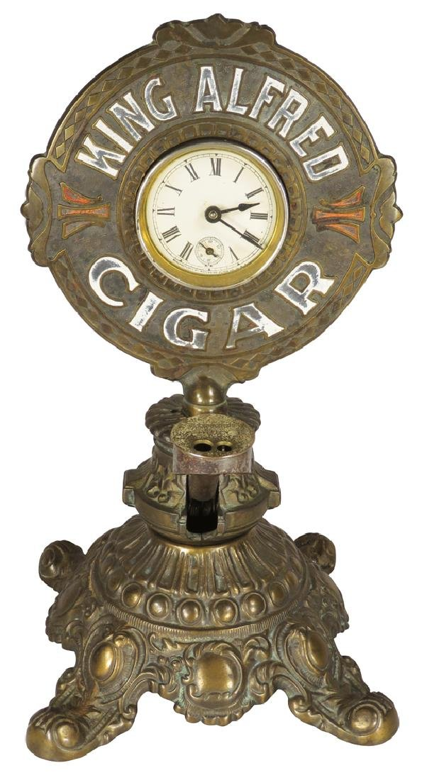 King Alfred Cigars-Cigar Tip Cutter Clock