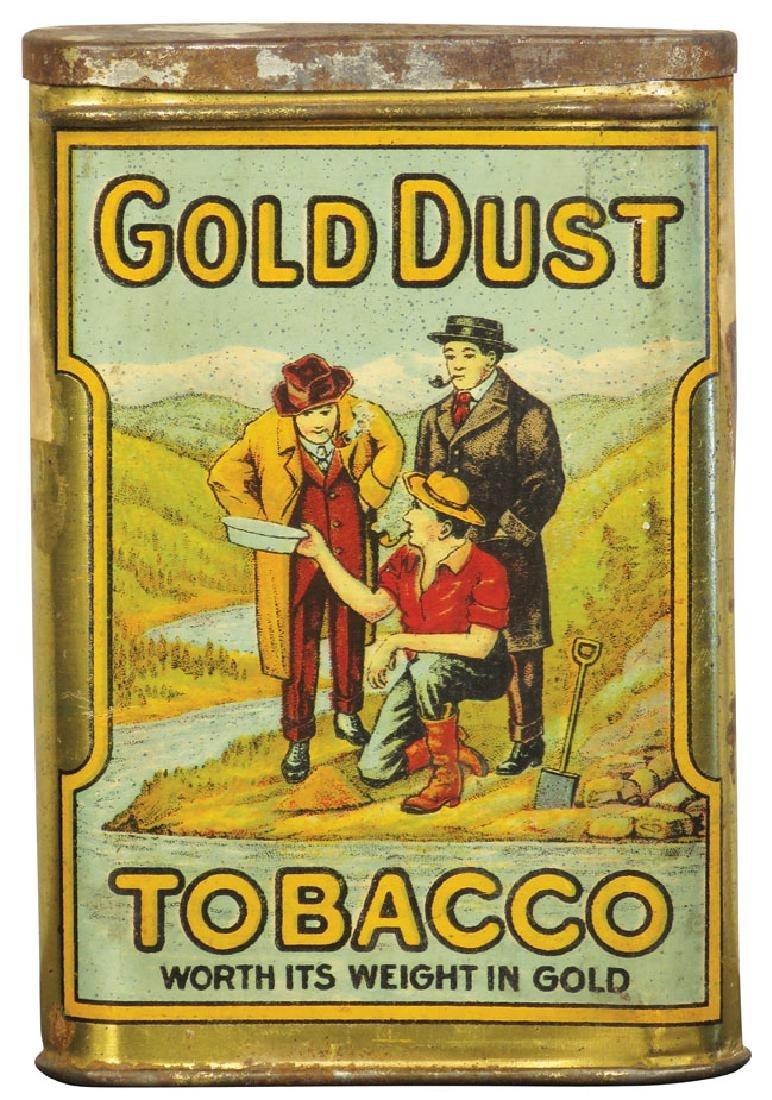 Very Rare Gold Dust Tobacco Pocket Tin