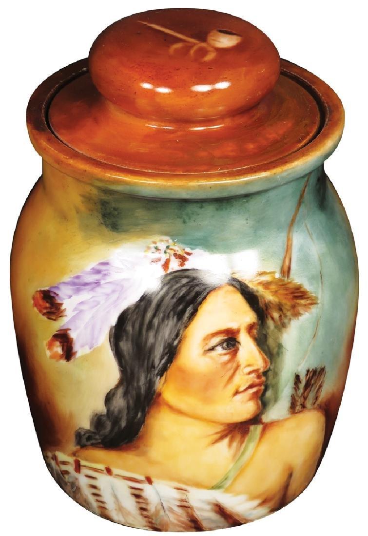 AK Limoges France Hand Painted Porcelain Humidor
