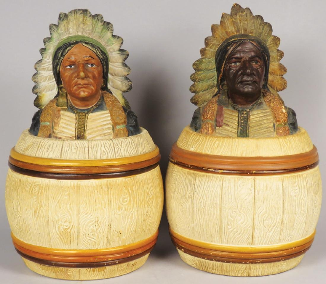 Two Ceramic Tobacco Humidors