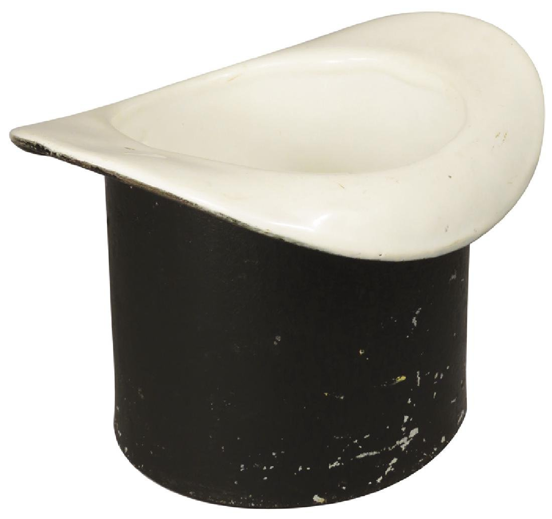 Porcelain Lined Cast Iron Top Hat Spittoon
