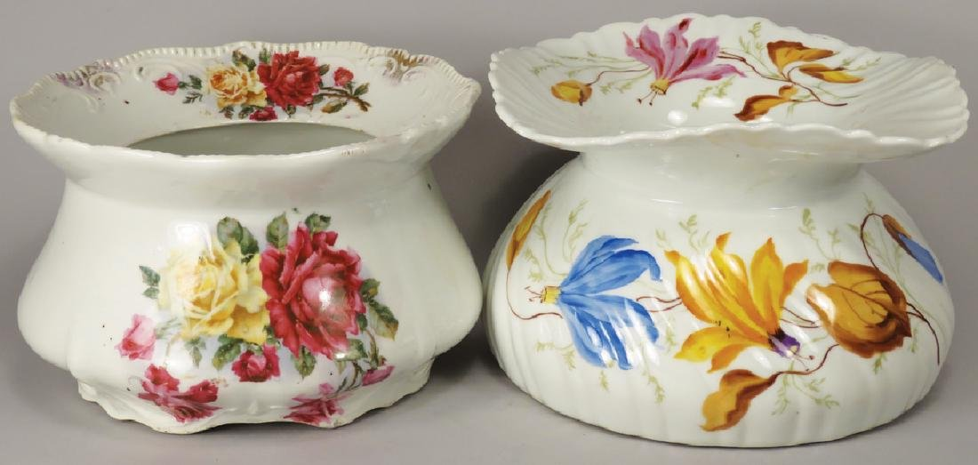 Two Antique Porcelain Spittoons
