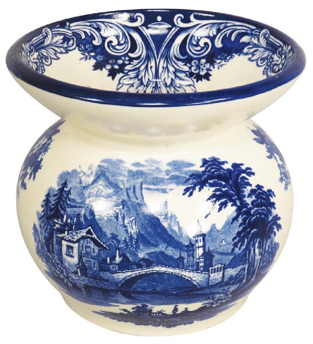 Antique Royal Doulton Porcelain Spittoon