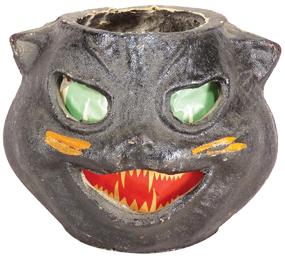 Black Cat Molded Pulp Paper Halloween Lantern