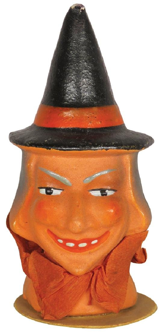 Vintage Composition Halloween Witch Figure