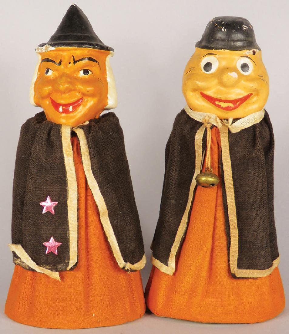 Pair of Vintage Composition Halloween Figures