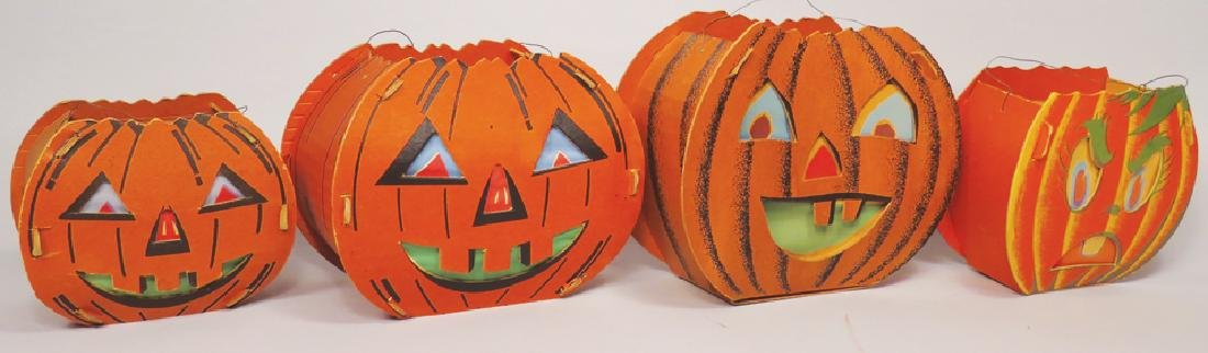Collection of Vintage Halloween Dual-sided Lanterns