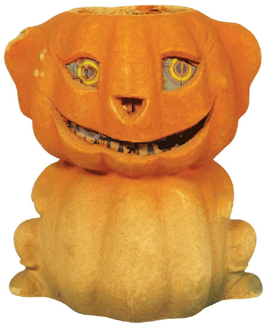 Jack O Lantern Molded Pulp Paper Halloween Lantern