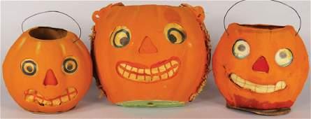 Collection of Vintage Cardboard Halloween Lanterns