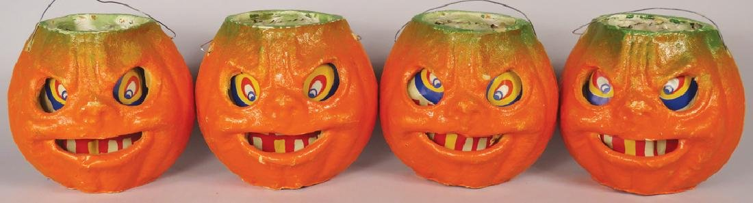Collection of Vintage Pulp Paper Halloween Lanterns