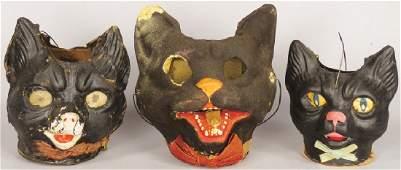 Collection Vintage German Halloween Cat Lanterns