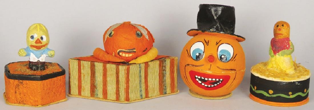 Collection of Vintage Halloween Candy Containers