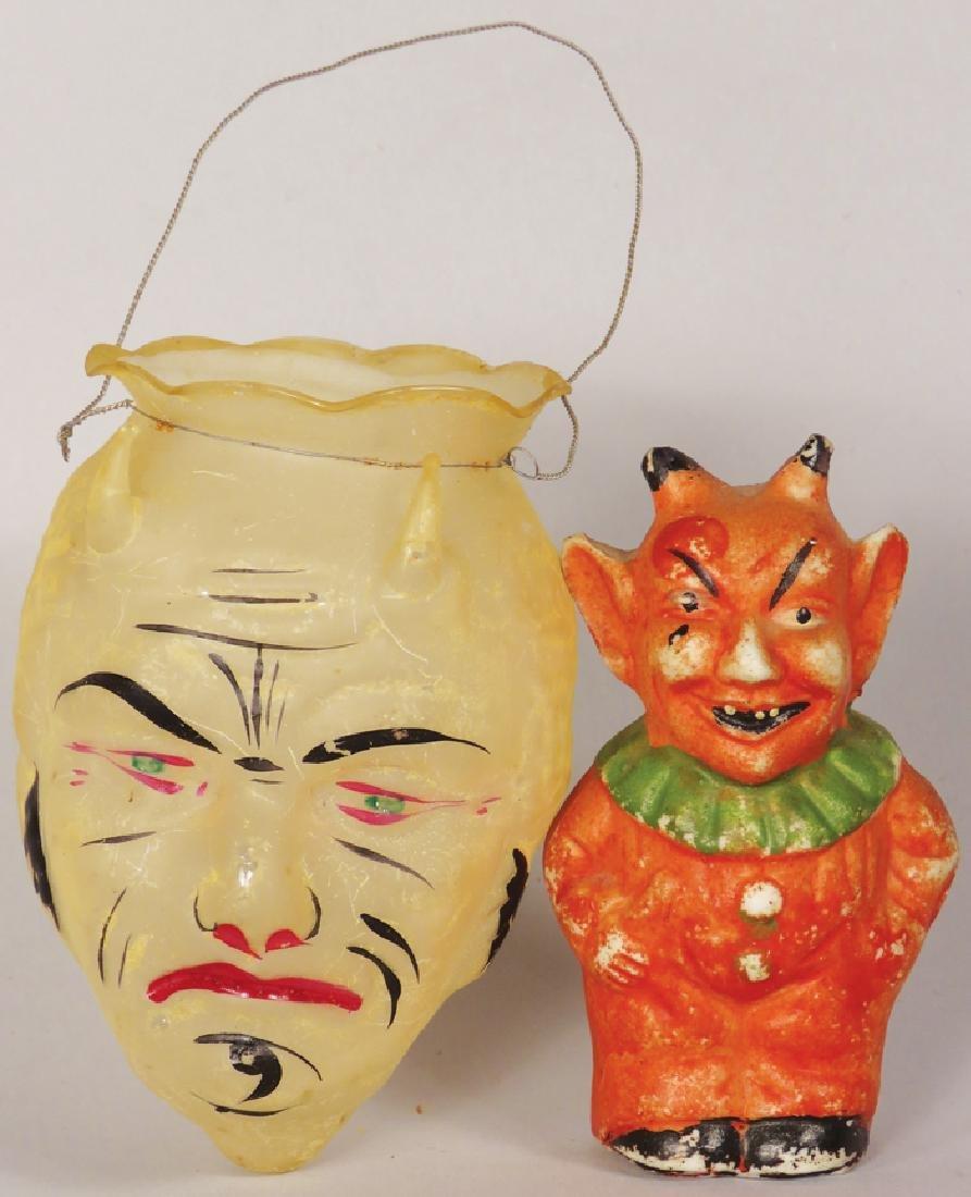 Two Vintage Devil Halloween Items