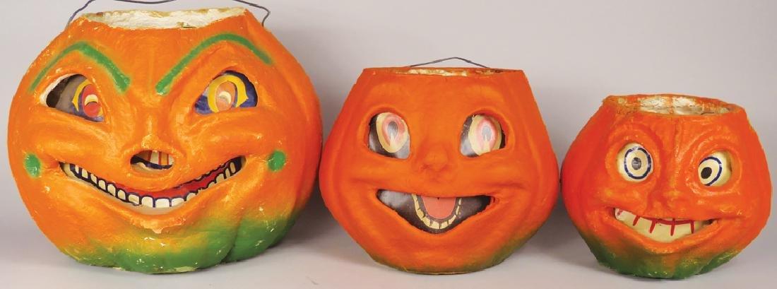 Collection of Vintage Pulp Paper Halloween Lanterns