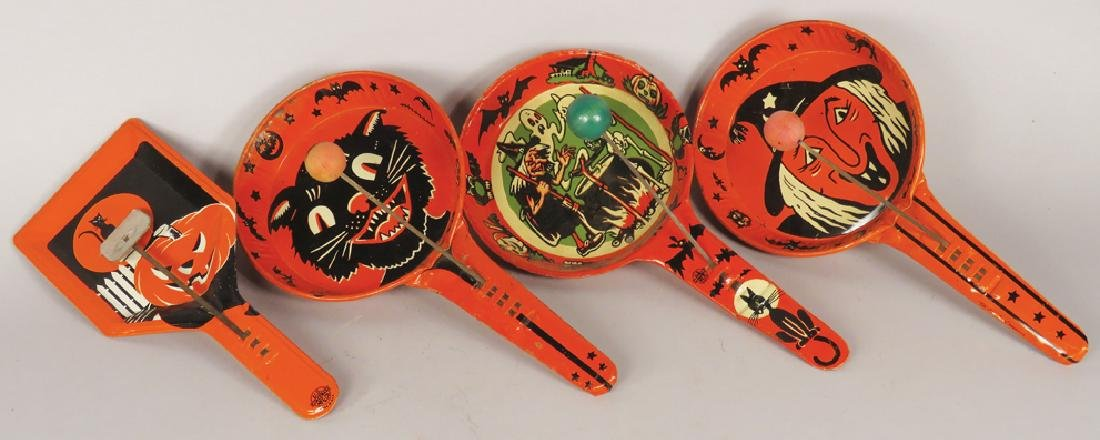 Collection of Vintage Halloween Tin Clangers