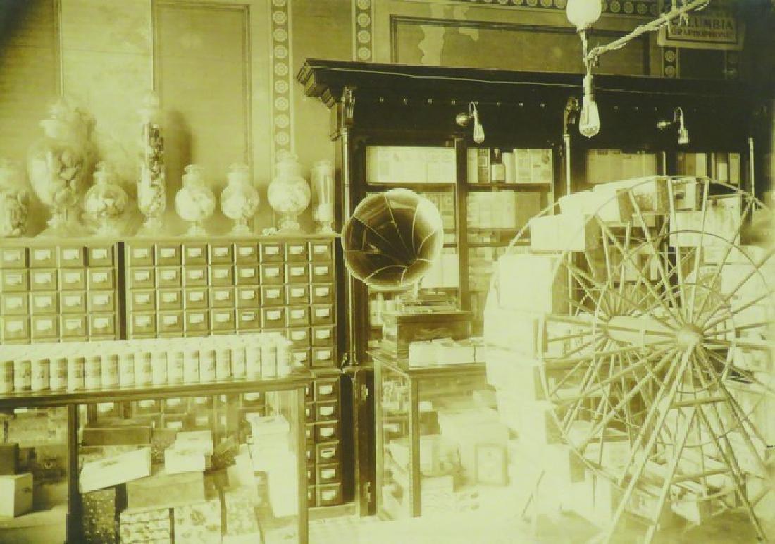 Early Pharmacy Photo W/Post Card Display