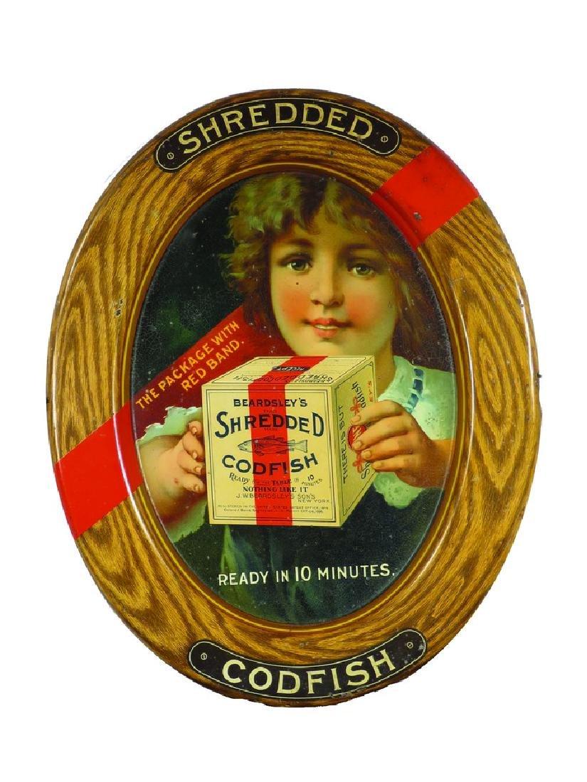 Beardsley's Shredded Codfish Tin Sign