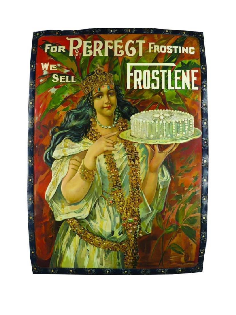 Frostlene Frosting Embossed Tin Sign