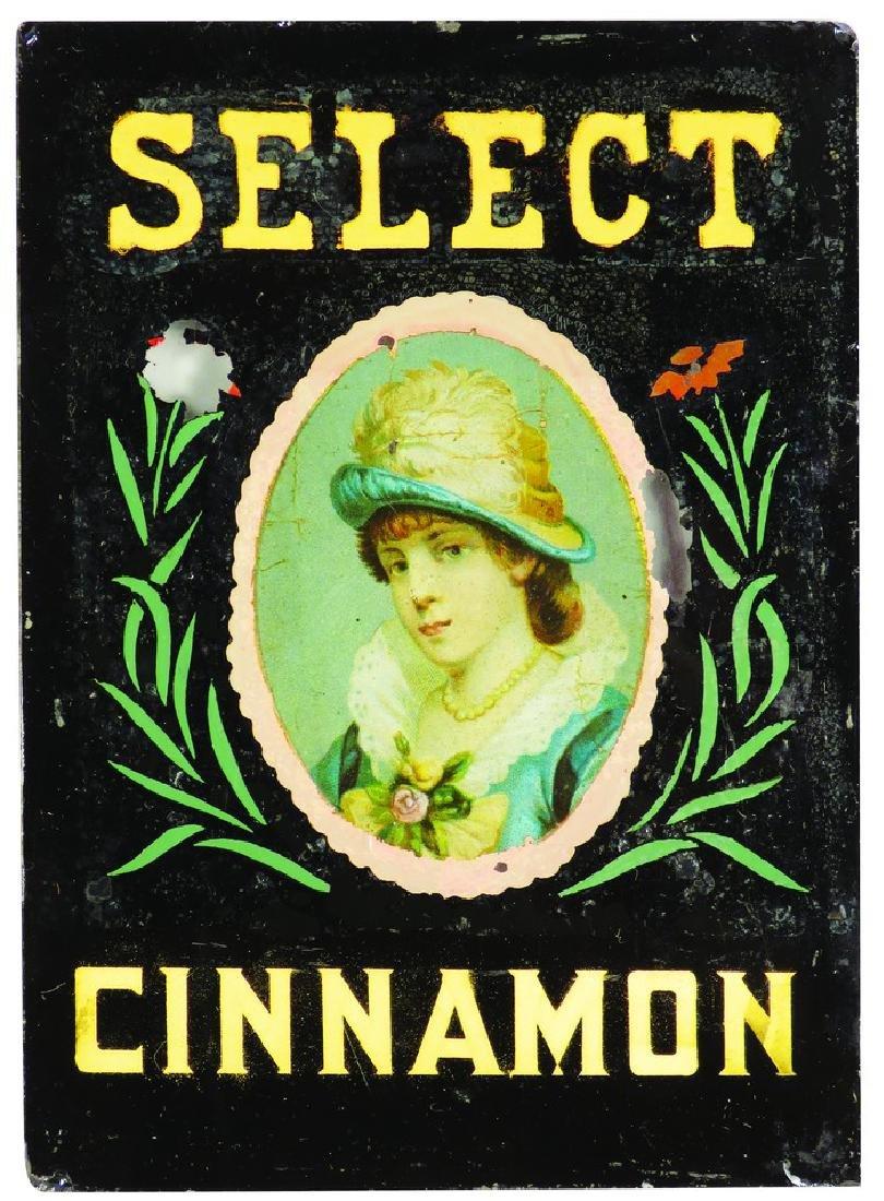 Select Cinnamon Reverse Glass Spice Label
