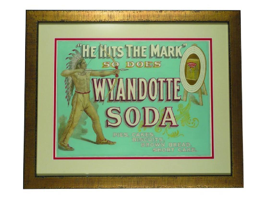 Wyandotte Soda Paper Sign