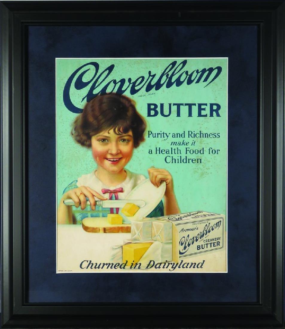 Cloverbloom Butter Cardboard Sign