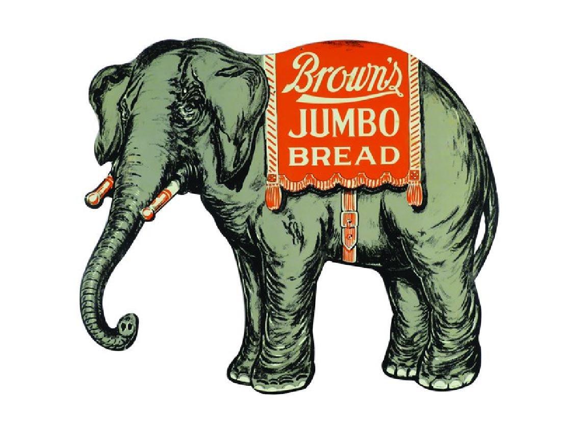 Brown's Jumbo Bread Die Cut Tin Sign