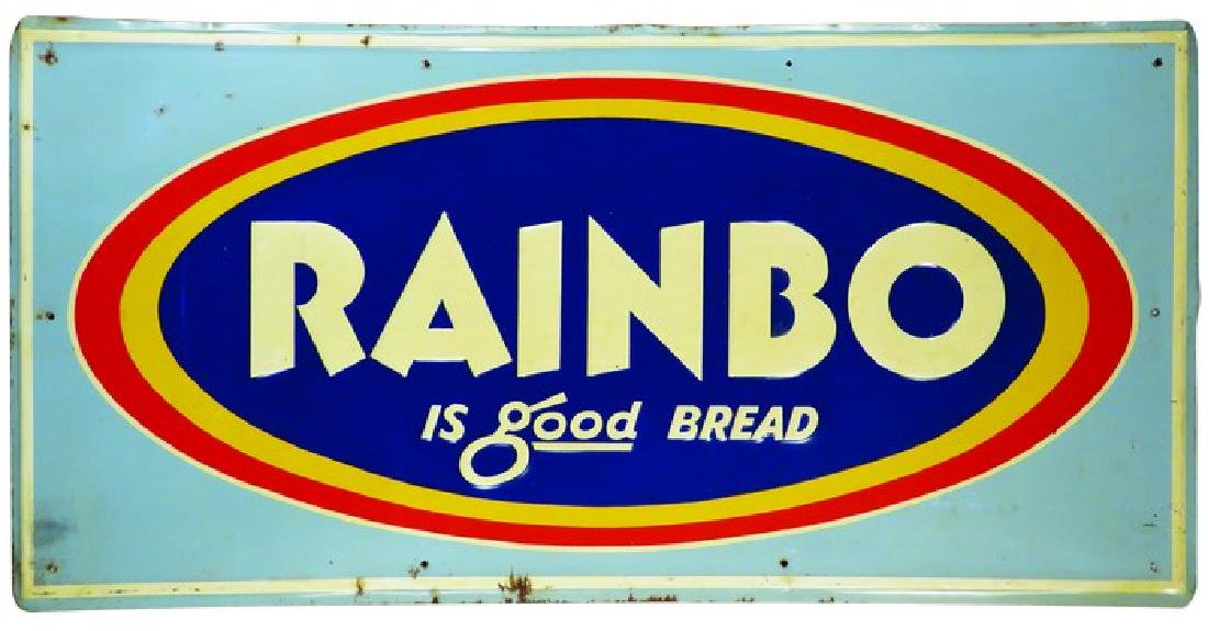 Rainbo Bread Embossed Tin Sign