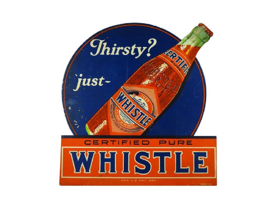 Whistle Soda Die Cut Cardboard Sign