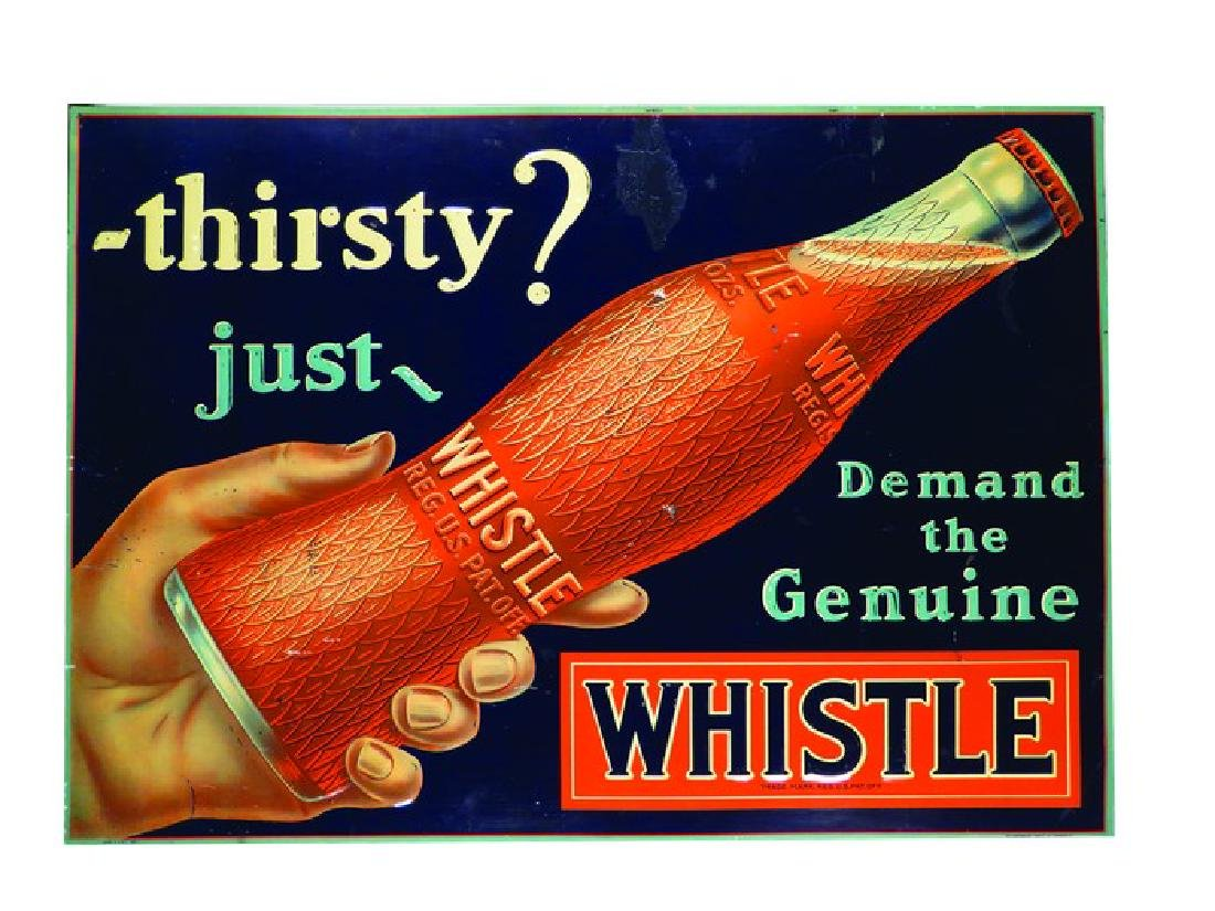 Whistle Soda Embossed Tin Sign