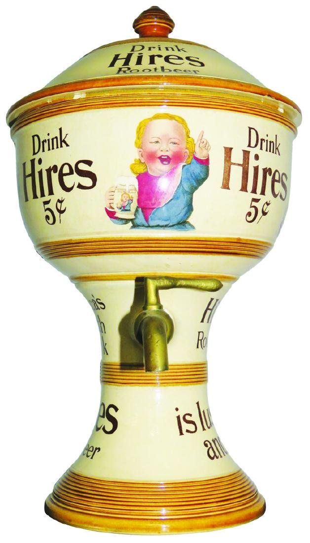 Hires Root Beer Porcelain Soda Fountain Dispenser