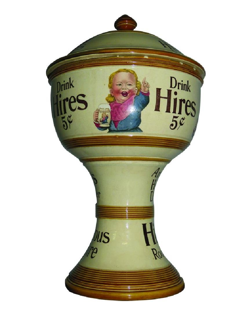 Hires Root Beer Porcelain Soda Fountain Dispenser - 2