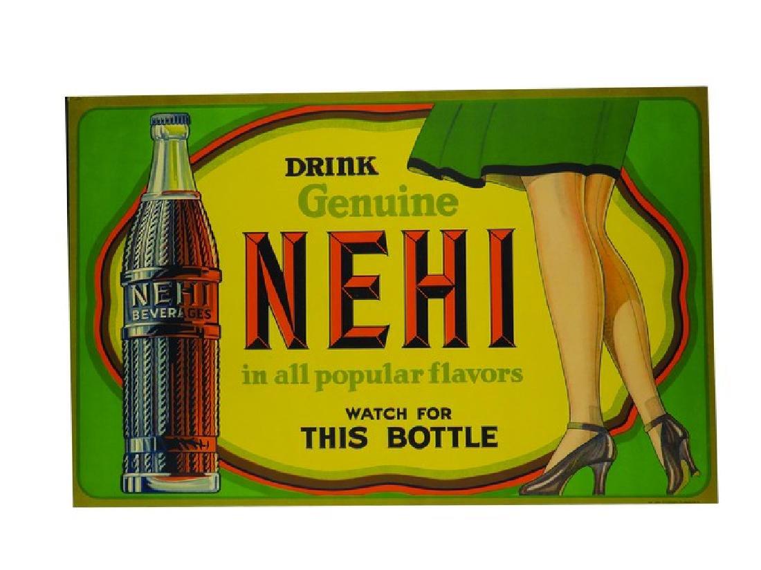 NEHI Beverages Cardboard Sign