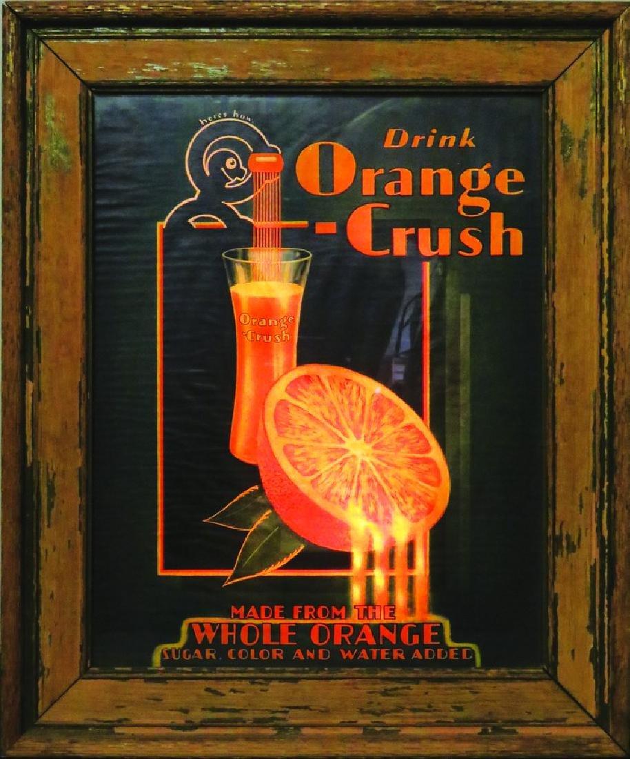 Orange Crush Light Up Counter Sign