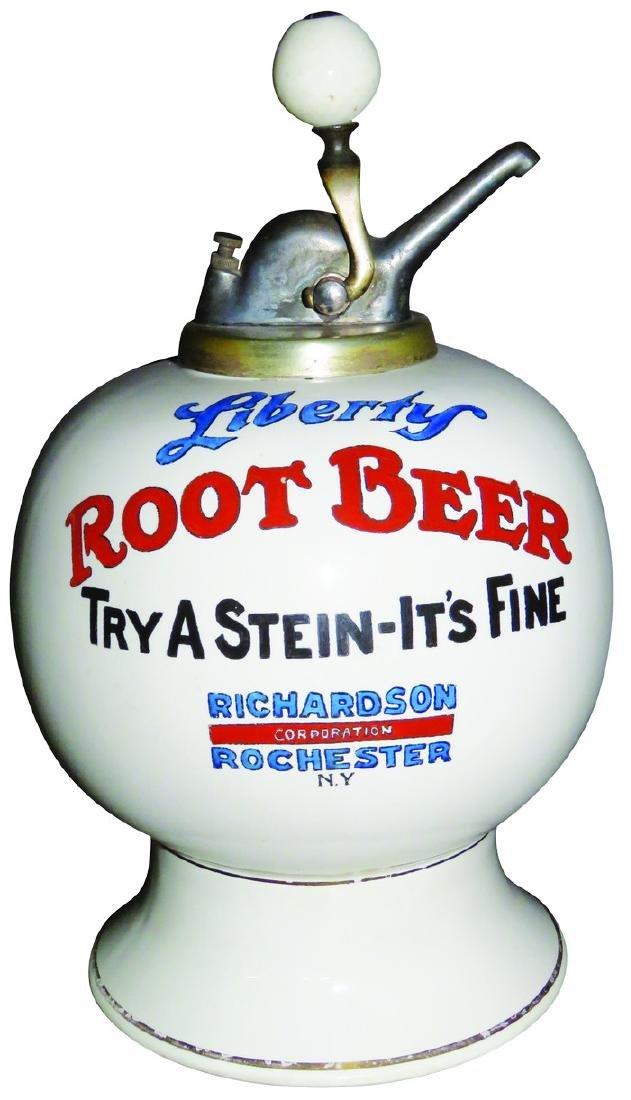 Liberty Root Beer Richardson Syrup Dispenser