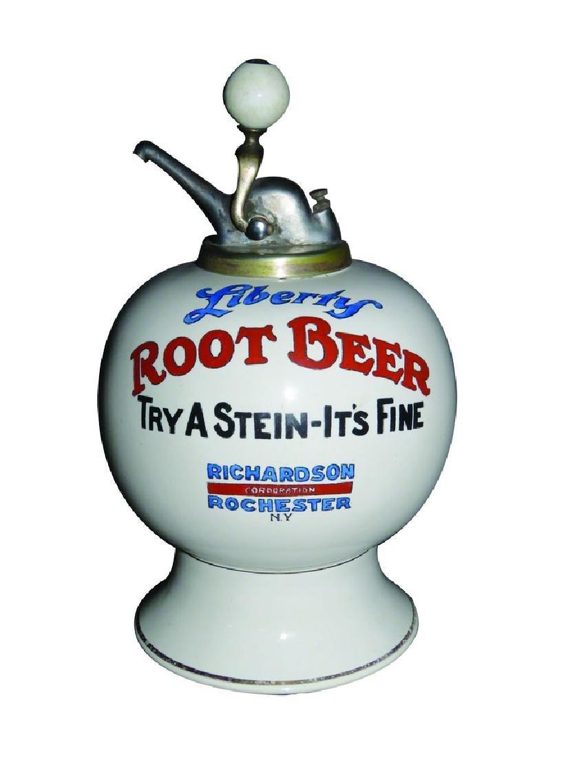 Liberty Root Beer Richardson Syrup Dispenser - 2