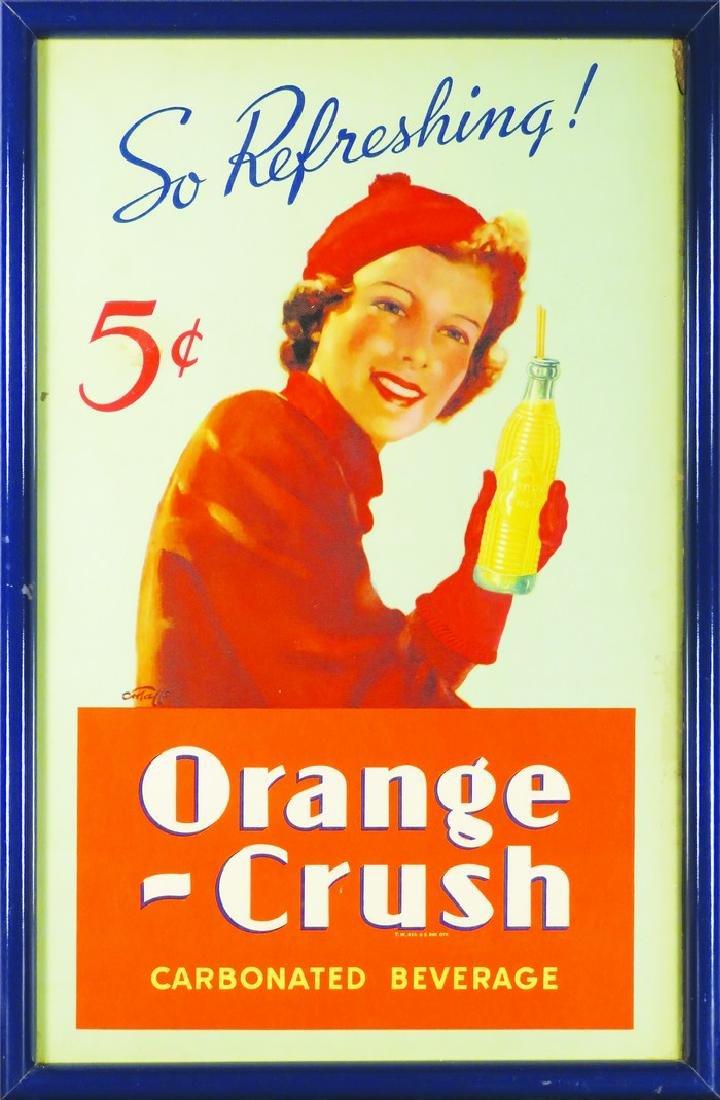 Orange-Crush Cardboard Sign