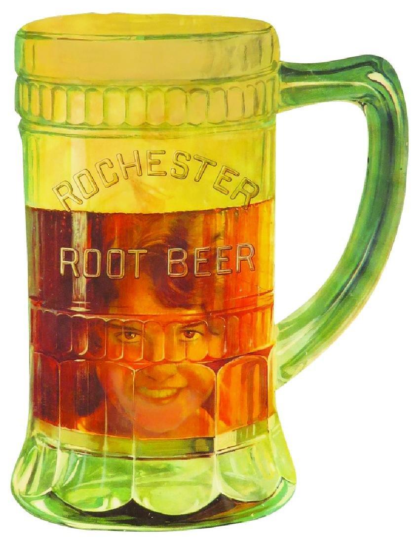 Rochester Root Beer Die Cut Cardboard Sign