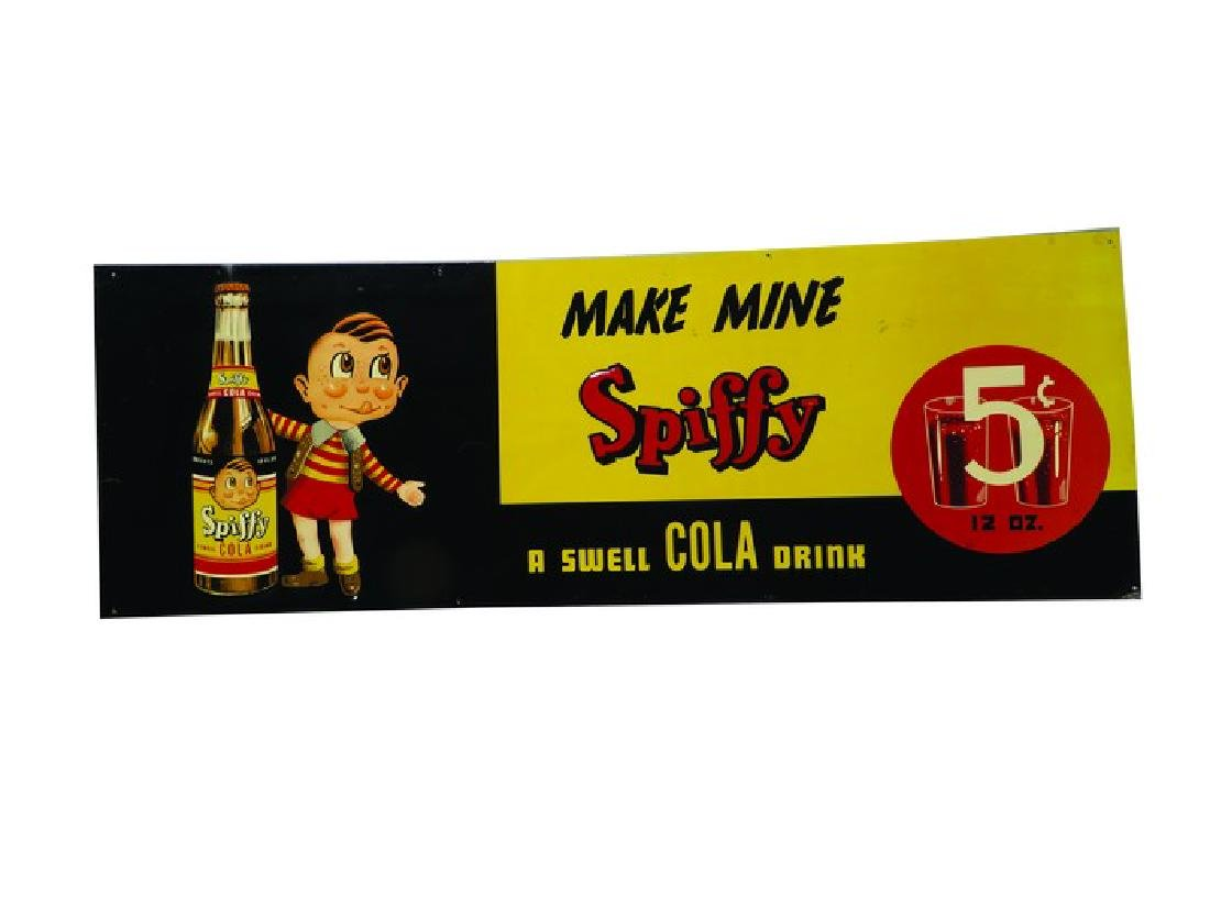 Spiffy Cola Embossed Tin Sign