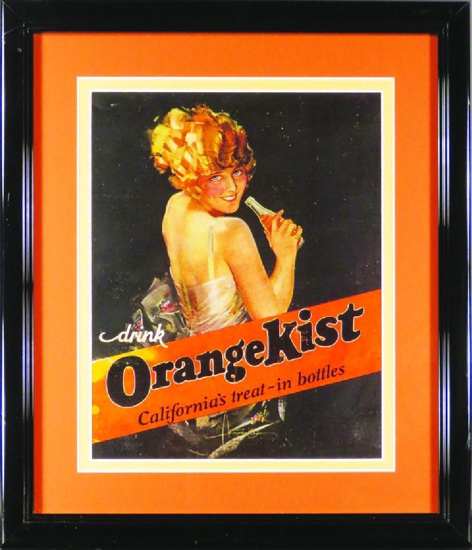 Orange Kist Cardboard Sign
