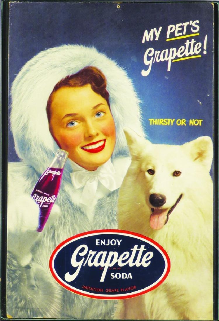 Grapette Soda Cardboard Sign