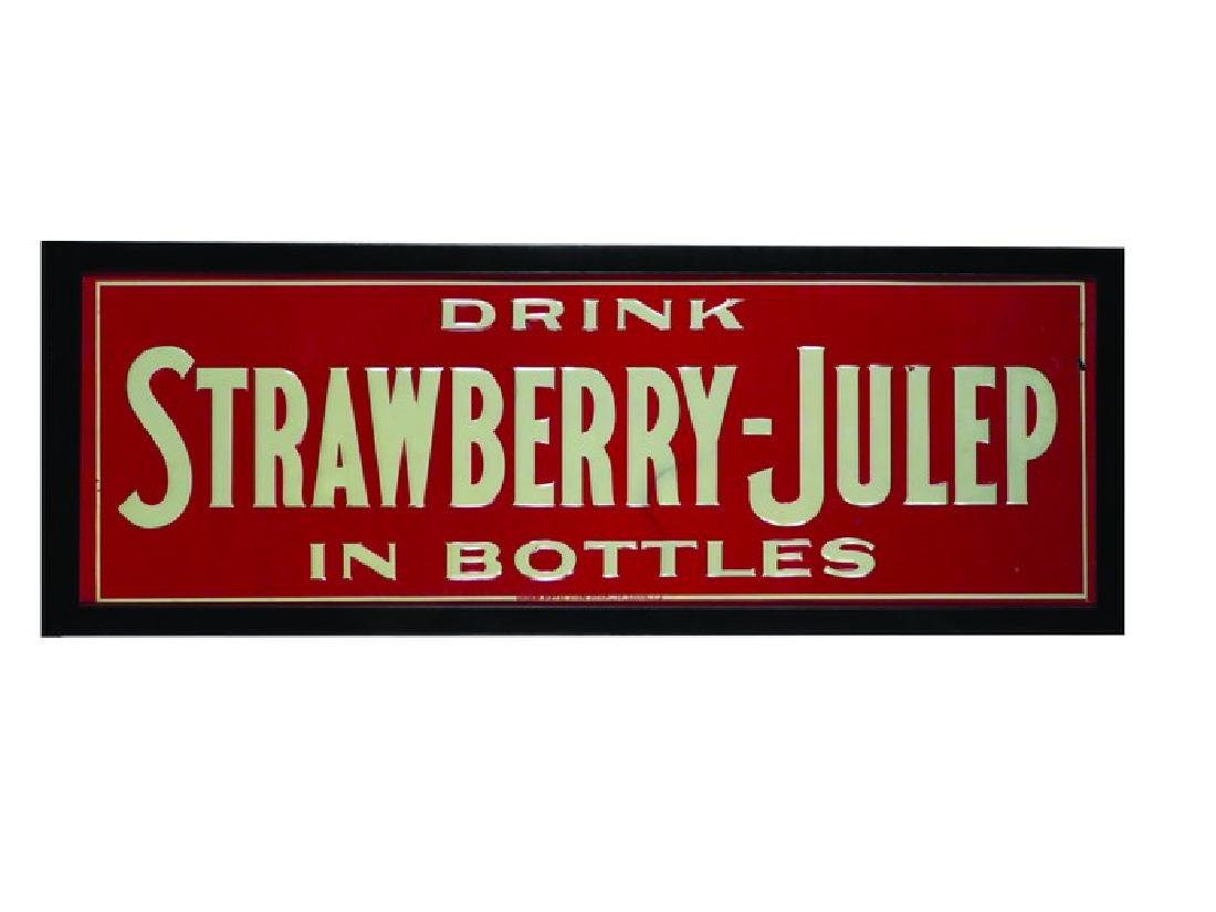 Strawberry-Julep Embossed Tin Sign
