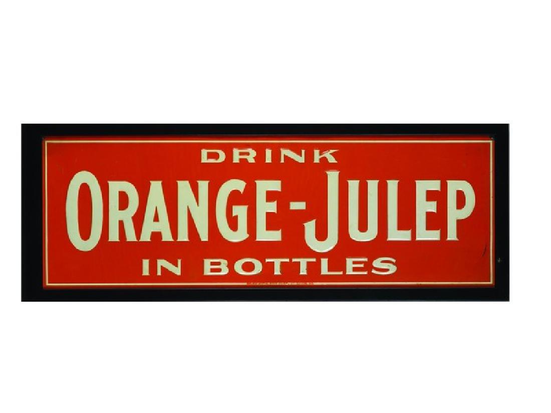 Orange-Julep Embossed Tin Sign